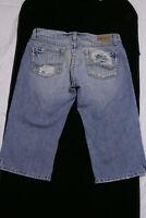 "BKE Buckle Star Distressed Capri Cropped Blue Jeans Women's size 4 27""       (C)"