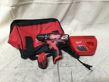 "Milwaukee 2407-22 M12 12v Li-Ion Cordless 3/8"" Drill Driver Kit w/ Battery"