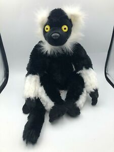 Wild Republic Black And White Ruffed Lemur Monkey Plush Soft Stuffed Toy Animal