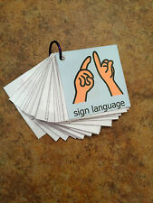 Alphabet Flash Cards ASL Sign Language Alphabet Pecs Education Special Needs