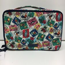Vera Bradley Blush & Brush Cosmetic Case in Cuban Stamps NWT