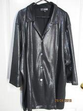 Ladies Black Shining Material Long Sleeved My size Large Shirt