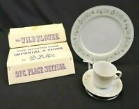 Imperial China W Dalton 745 Wild Flower 3 Piece Place Setting with Box