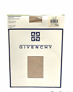 NEW! VTG Givenchy  Body Smoothers 555 Sheer Support Pantyhose Size C La Creme