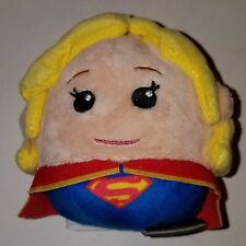 "Supergirl Hallmark Fluffballs Plush 4"" Stuffed Animal Toy Blonde Girl Super Hero"