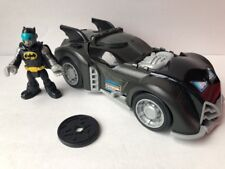 BATMAN FIGURE et Batmobile IMAGINEXT DC super avec disque