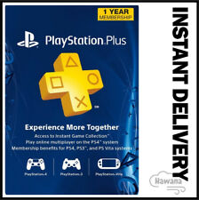 Sony PlayStation Plus 1 Year / 12 Month Membership Subscription Card