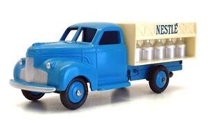 CIJ Dan Toys 10cm Long Diecast 05 - Camion Laitier Truck Nestle - Blue/White