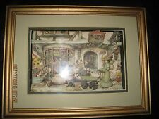 ANTON PIECK SHADOW BOX 3-D TOY SHOP signed