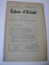 ECHOS d'ORIENT n°176 Byzance Bulgarie Macédoine 1934