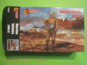 1/32 MARS 32025 WKII Rußland russische Infanterie Soldaten mit Mantel Soldiers