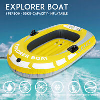 1/2 Person Inflatable Rubber Boat Plus Rowing Drifting Diving Fishing  .