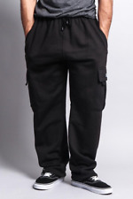 BIG AND TALL Fleece Cargo Pocket Sweat Pants With Drawstring Dream USA 7 Colors