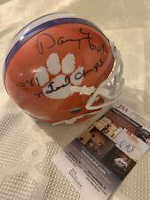 Danny Ford Signed Mini Helmet Clemson Tigers JSA Authentication COA Autographed