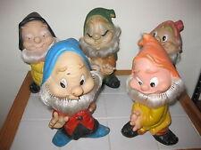 Lotto personaggi in gomma Rubbertoys ,famosa,  ledra, sette nani originali