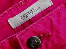 ESPRIT HotPinkCottonMixStretchJeans Sz12/14EUC