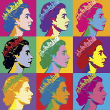 Andy Warhol The Queen Poster Reproduction Paintings Giclee Canvas Print