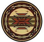 """8x8 Round Area Rug Southwest Southwestern Southern Medallion AZ Size 7'6"""" NEW"""