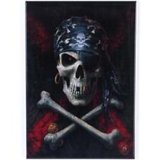 SKULL AND CROSS BONES FRIDGE MAGNET BY ANNE STOKES