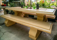 Table Only GRC Dining Patio Garden Furniture Normandy Sand Rectangle Bullnose