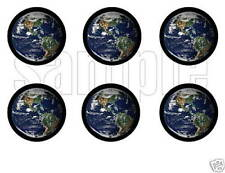 Planet Earth Space Edible Party Image Cupcake Topper