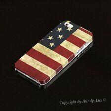 Apple iPhone 5/5s/se HARD CASE GUSCIO PROTETTIVO COVER ASTUCCIO Motivo Bandiera USA