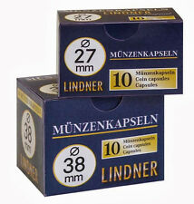 20 Lindner Coin capsules Size 24 to Example for 1 Dm or 1 Dm Gold - Coins - New