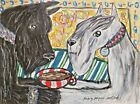STANDARD SCHNAUZER Collectible ACEO Dog Art Print 2.5x3.5 Signed by Artist KSams