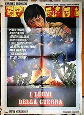 manifesto 2F film I LEONI DELLA GUERRA - RAID ON ENTEBBE Charles Bronson
