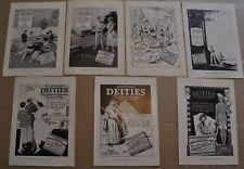 1917-19 EGYPTIAN DEITIES Cigarettes advertisements x7, biplane, lighthouse etc