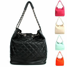 Women's Korea Handbag Quilting Silver Chain Faux Leather Shoulder,Tote Bag Purse