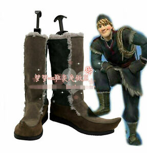 Costume Kristoff Bjorgman Cosplay Snow Queen Anna Elsa Boots Shoes