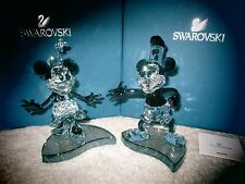 Swarovski Crystal Disney L.E. Mickey Mouse STEAMBOAT WILLIE Figure NIB Rare Ret.