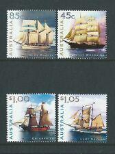 AUSTRALIA 1999 SAILING SHIPS SET 4 UNMOUNTED MINT, MNH.