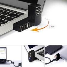 Mini 3 Port USB 2.0 Rotating Splitter Adapter Hub New For Notebook Mac PC Laptop