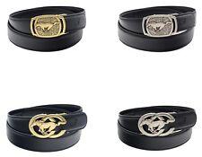 QHA Mens Womens Horse Automatic Designer Belt For Men Ratchet Auto Buckle Gift