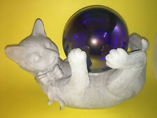 Cat With Gazing Ball Statue - Outdoor/Garden/Yard/Home/ Decor