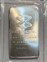 10 oz Elemetal Fine Silver Bar, .999 Fine Silver in Sealed Plastic