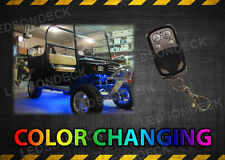 14PC COLOR CHANGING LED UNDER BODY GOLF CART NEON LIGHT KIT w WIRELESS REMOTE