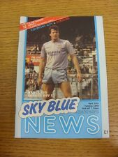 19/04/1988 Coventry City v Everton  . Thanks for viewing this item, buy with con