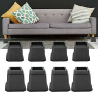 "4 x 5"" & 4 x 3"" Adjustable Furniture Raisers Bed Chair Sofa Riser Feet Lift Set"