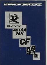 BEDFORD CF VAN, ASTRA VAN AND KB SERIES PICK UP SALES BROCHURE 1983 1984