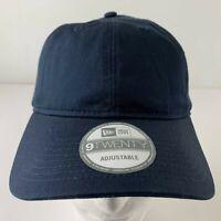 New Era 9Twenty Adjustable Navy Blue One Size Hat Strapback Baseball Cap