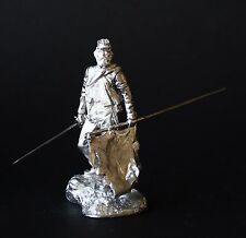 Second Lieutenant with Flag, Northern Virginia  KIT Tin toy soldier 54 mm. metal