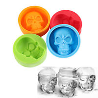 Halloween Skull Shape Silicone Ice Cube Mold Muffin Cake Chocolate Pudding Mould