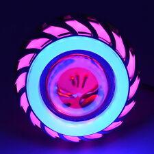 Motorcycle Dual Halo Projector Hi/Lo Beam LED Headlight Headlamp Bulb 12V-85V