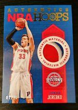 2013-14 NBA Hoops Authentics Memorabilia Jonas Jerebko /15 three color patch