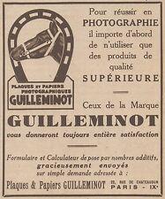 Z8530 Plaques photographiques GUILLEMINOT - Pubblicità d'epoca - 1931 Old advert