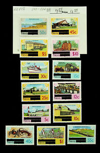 NEVIS COTTON COLLEGE ARCHITECTURE SHIP OFFICIAL OVPT S/C 13v MNH STAMPS