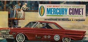 Vintage Aurora Mercury Comet Model Kit